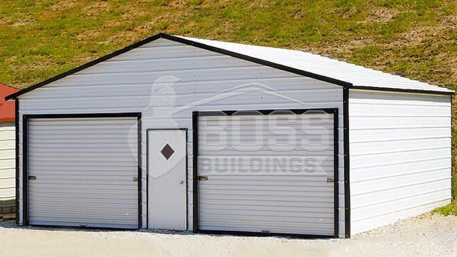 Two Car Garage with a walk-in door