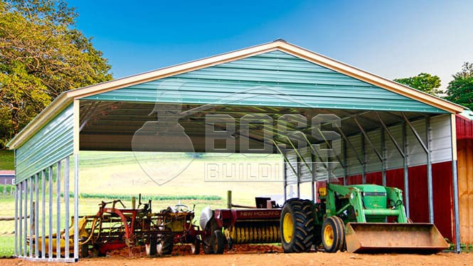 30×46 Vertical roof carport with panels & gables