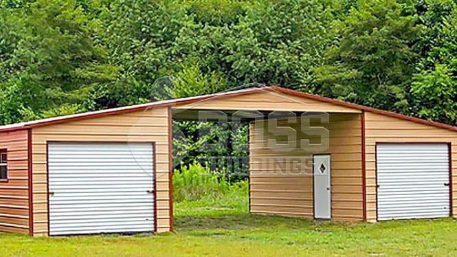 40×21 A-Frame Straight Roof Barn