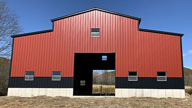 Vertical Roof Barn