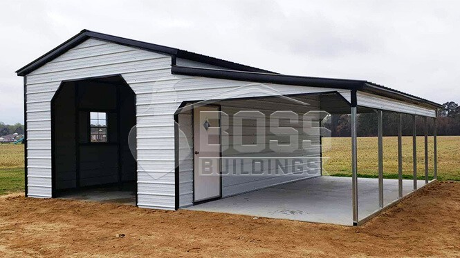 16x26 Garage with Lean to Style