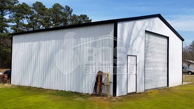32×33 Vertical Metal Garage