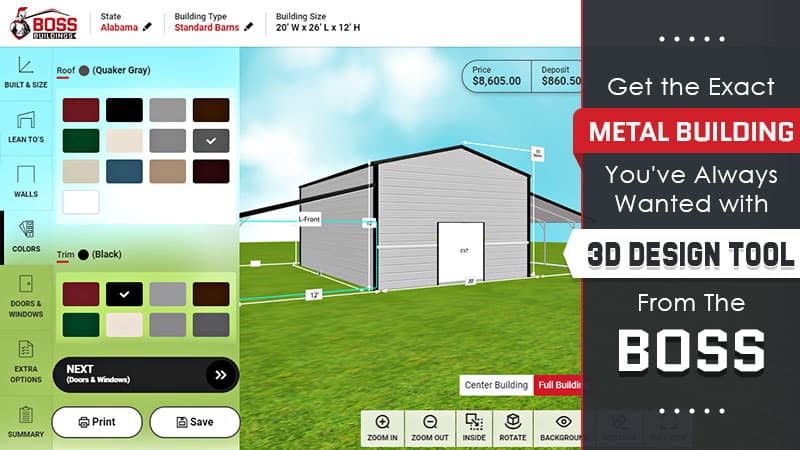 Get the Exact Metal Building You've Always Wanted with 3D Design Tool from THE BOSS
