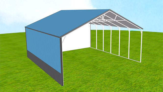30x30 vertical roof Carport