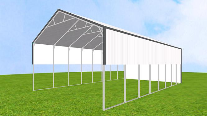 30x40 vertical roof Metal Carport